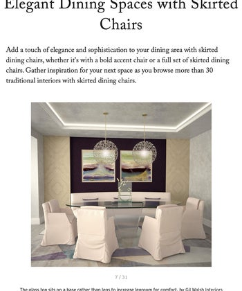 Elegant Dining Spaces with Skirted Chairs