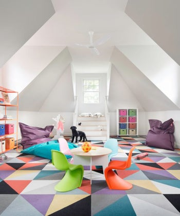 10 Eye-Catching Rooms Decorated with Geometric Patterns