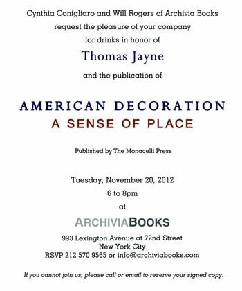 Celebration and Book Signing for American Decoration at Archivia Books