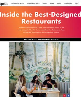 Step Inside the Best-Designed New Restaurants