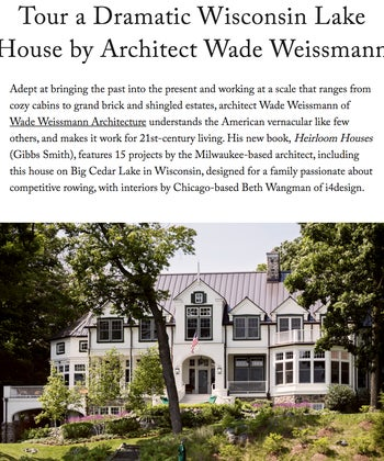 Tour a Dramatic Wisconsin Lake House by Architect Wade Weissmann