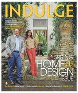 Lifestyle magazine Miami INDULGE -  Spring Home & Design Issue selects architectural partners Carlos Gonzalez-Abreu & Ana Alas for their cover.