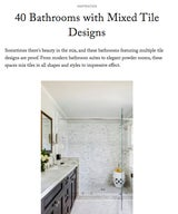40 Bathrooms with Mixed Tile Designs