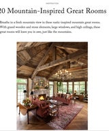 20 Mountain-Inspired Great Rooms