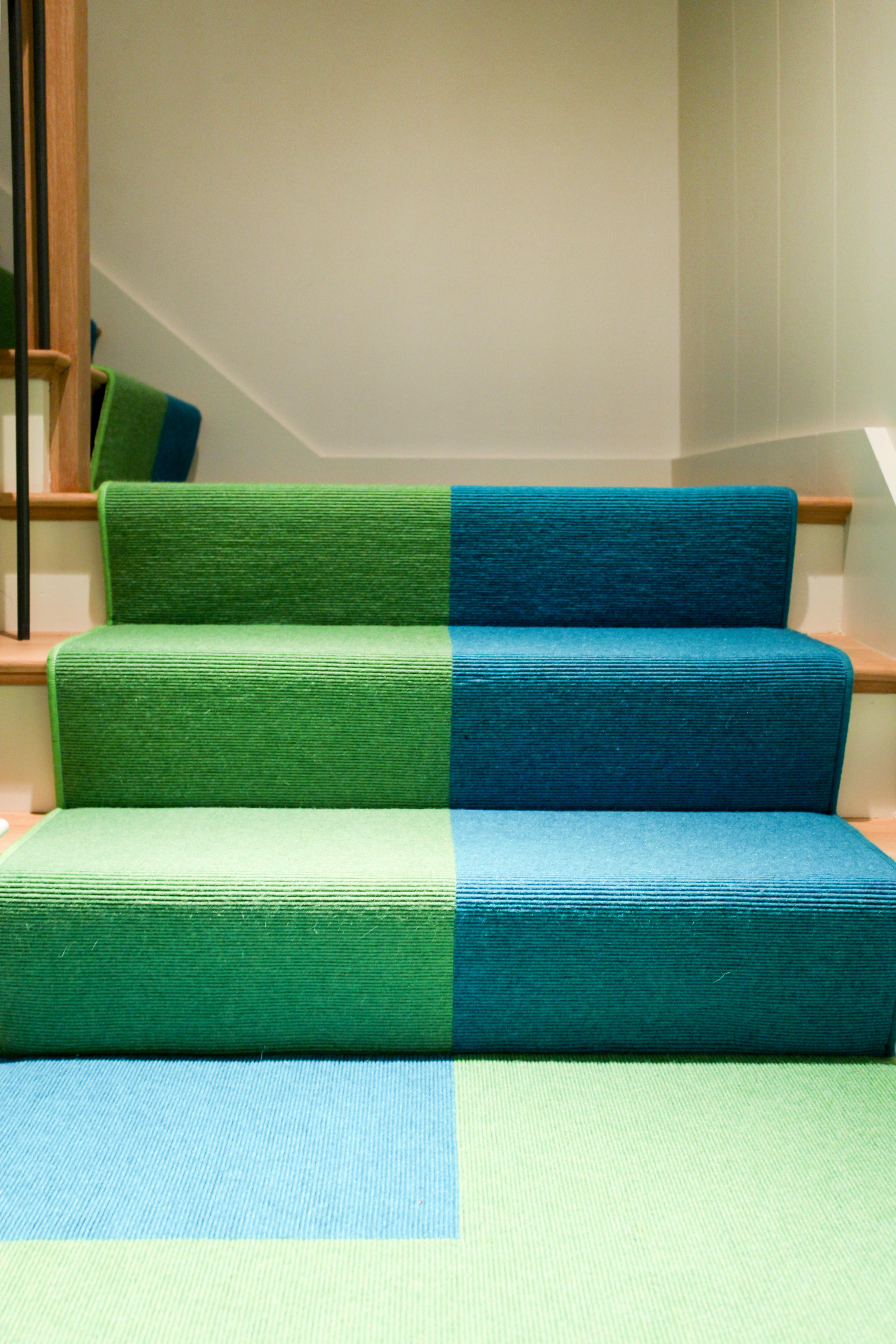 Custom Stair Runner Leading To A Basement Basement Contemporary Modern By  Cara Woodhouse Interiors LLC