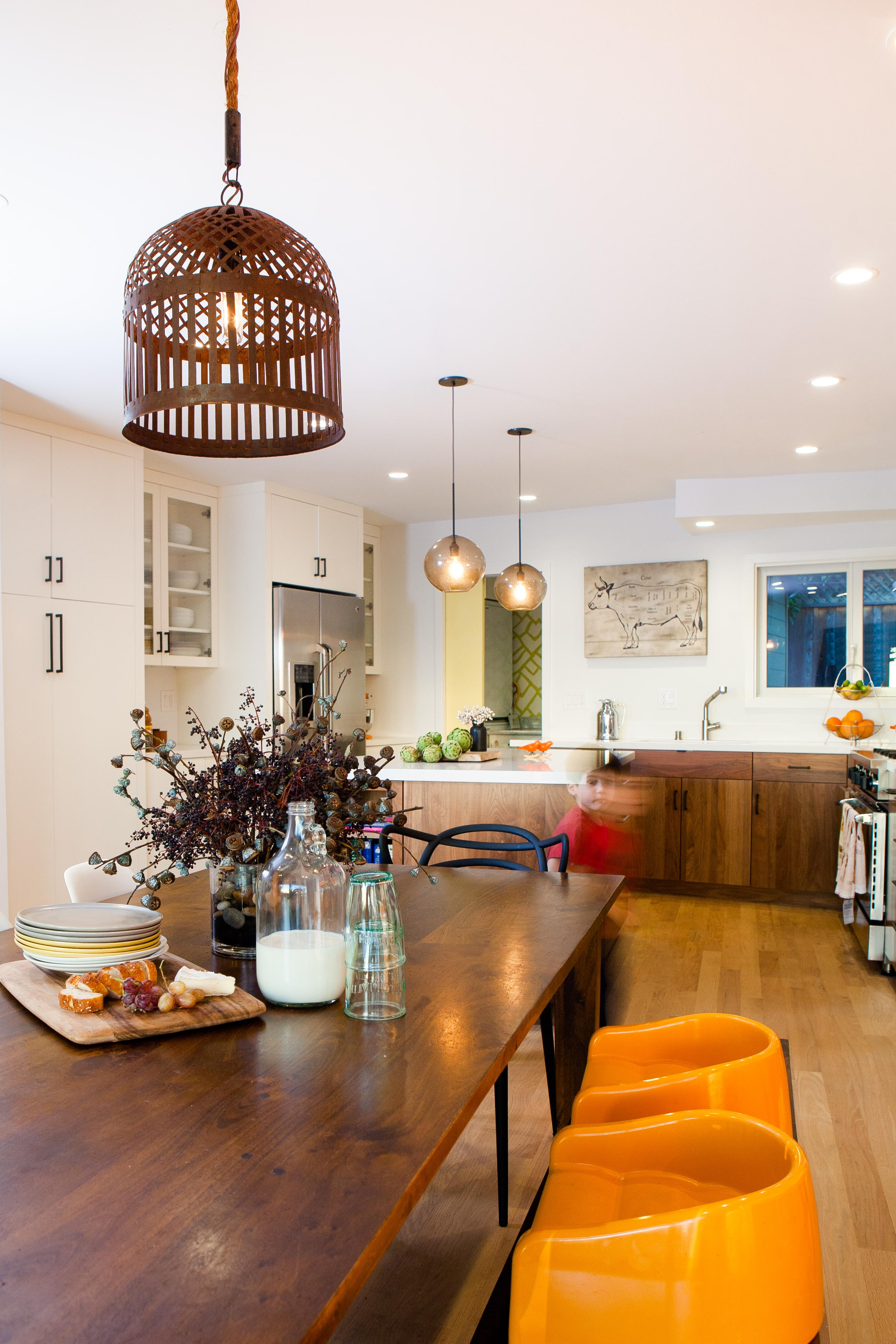 Berkeley Hills MidCentury Rancher Kitchen Family Room Dining Contemporary  Rustic Eclectic Transitional By Regan Baker Design