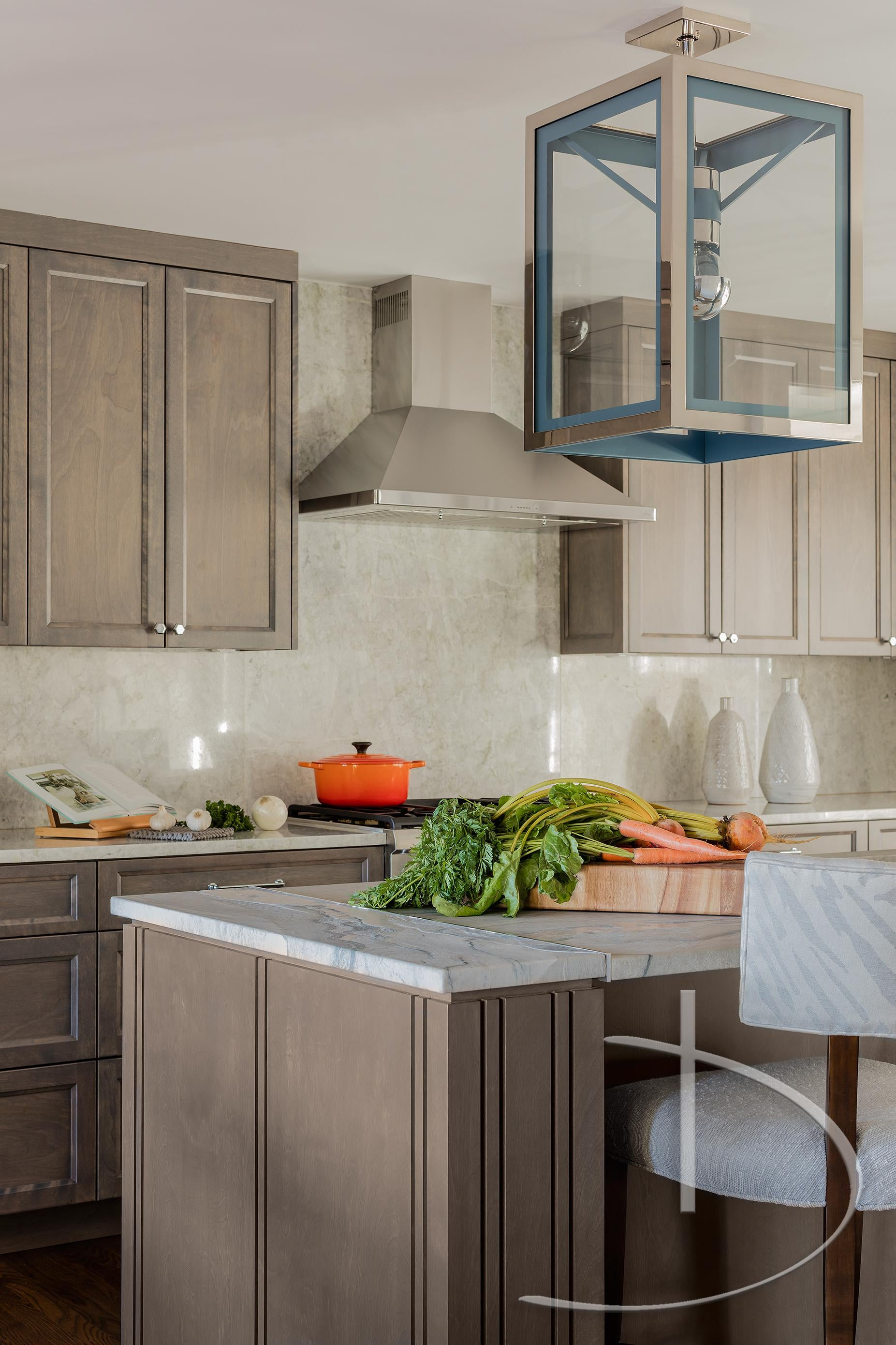 Into The Blue Andover, MA Kitchen Contemporary Modern Transitional By Daher  Interior Design