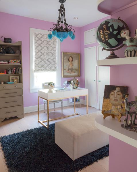 Eclectic home office Blue Dering Hall 35 Eclectic Home Offices Inspiration Dering Hall