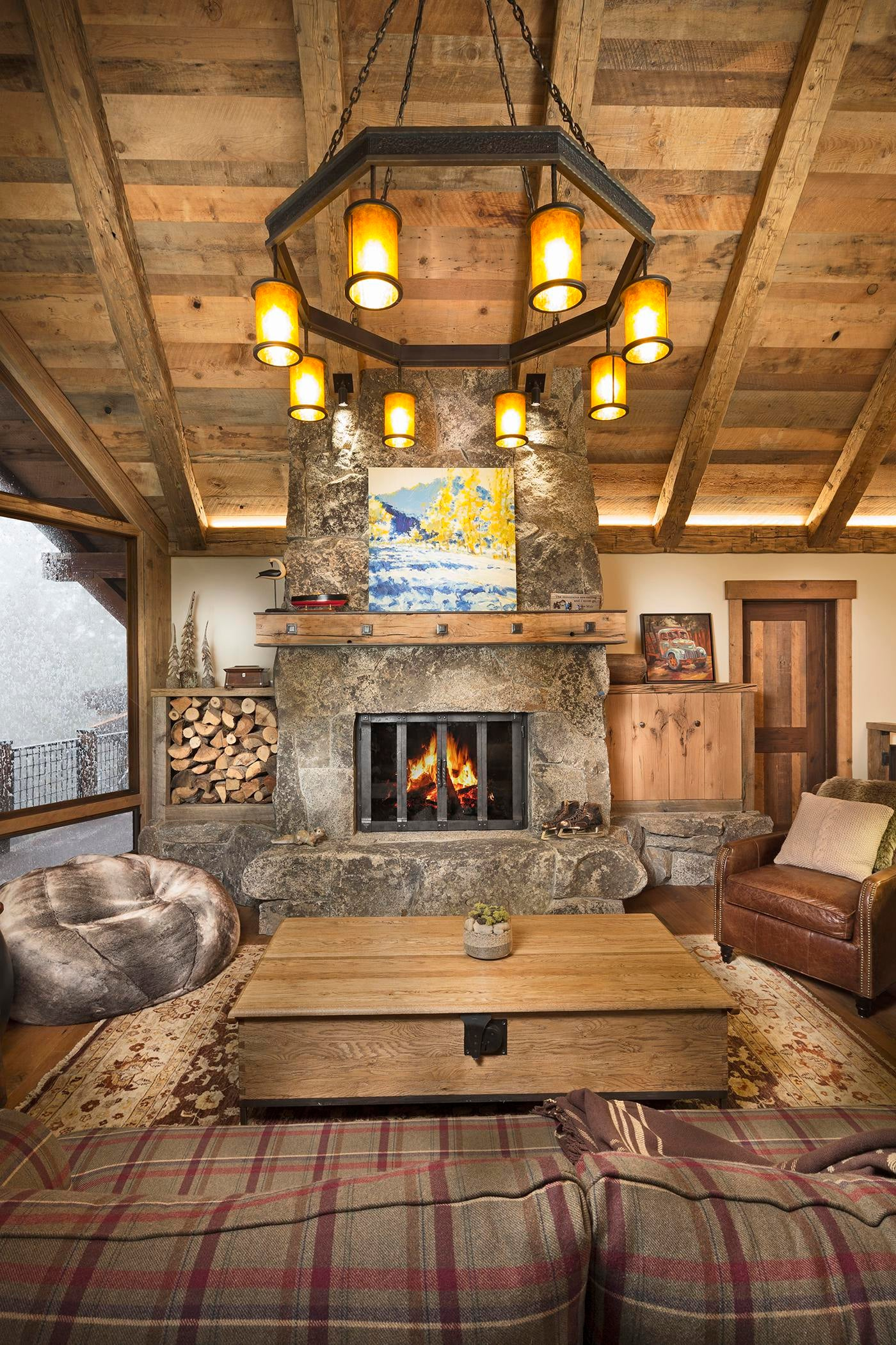 Tahoe Family Lodge, Dollar Hill, Lake Tahoe Living Rustic Mountain By Aspen  Leaf Interiors