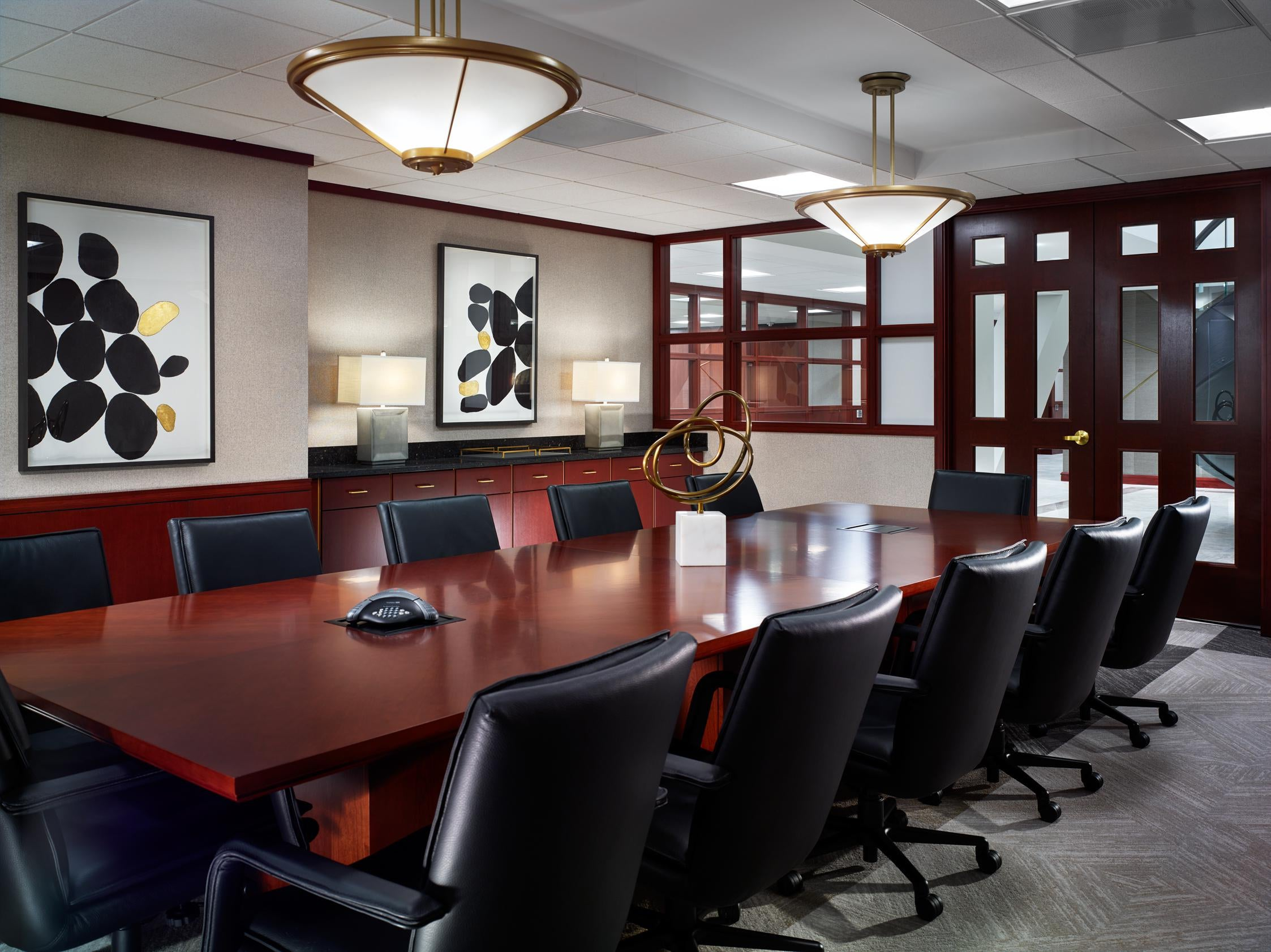 Pittsburgh Law Offices Medium Sized Conference Room. LSM Interior Design