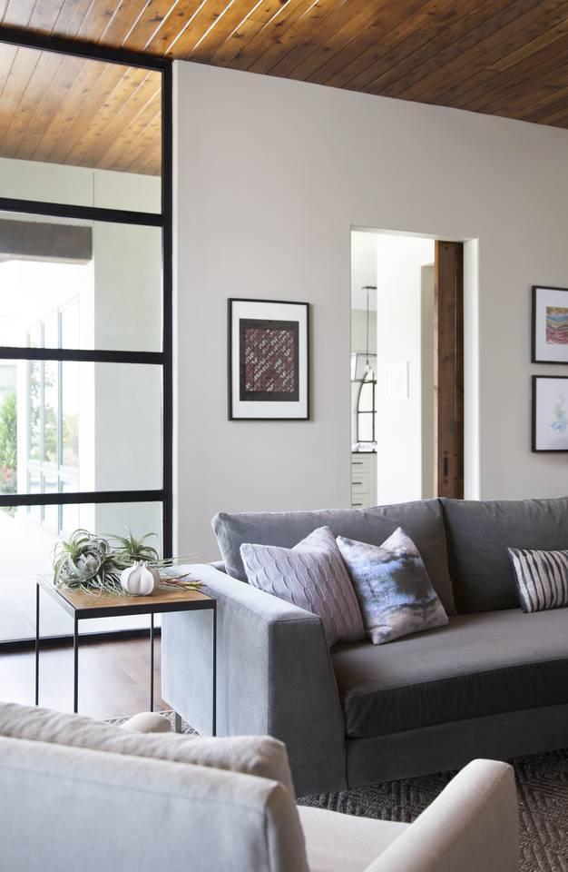 Transitional Family Friendly Media Room Spanish Oaks Residence, Austin, TX  Media Modern Transitional By