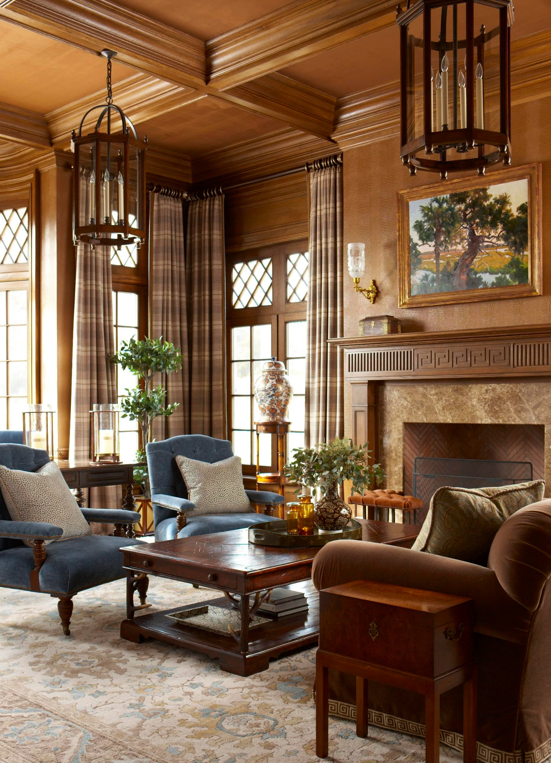 Study Library Living Home Office Contemporary Transitional Traditional By  Rinfret Limited Interior Design U0026 Decoration LLC