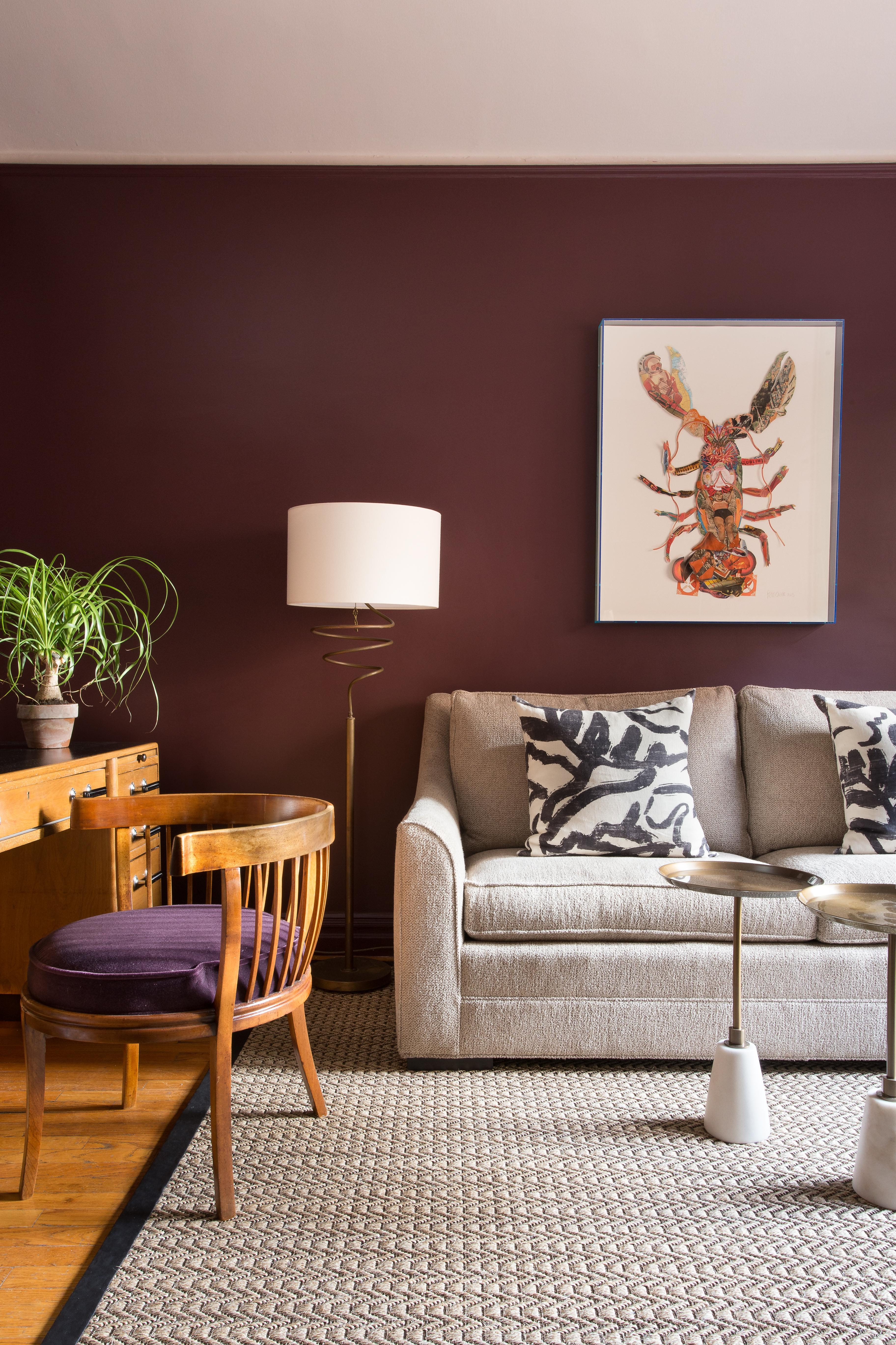 Home Office+Den, Antique Desk, Sofa Bed, Leather Trim Sisal, Lobster  Collage Art