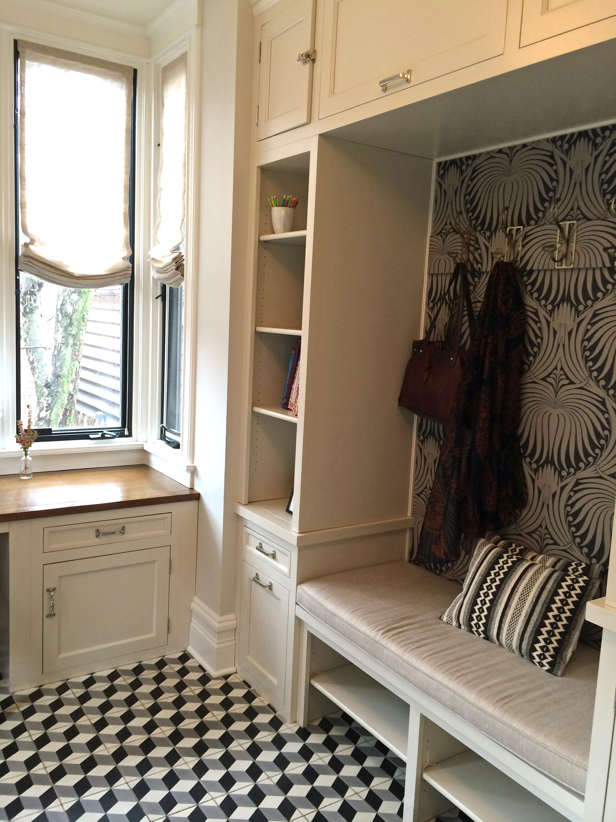 Wellington Chicago Residence Lakeview Home Office Mudroom Modern Eclectic  Transitional MidCentury Modern By KitchenLab Design Rebekah