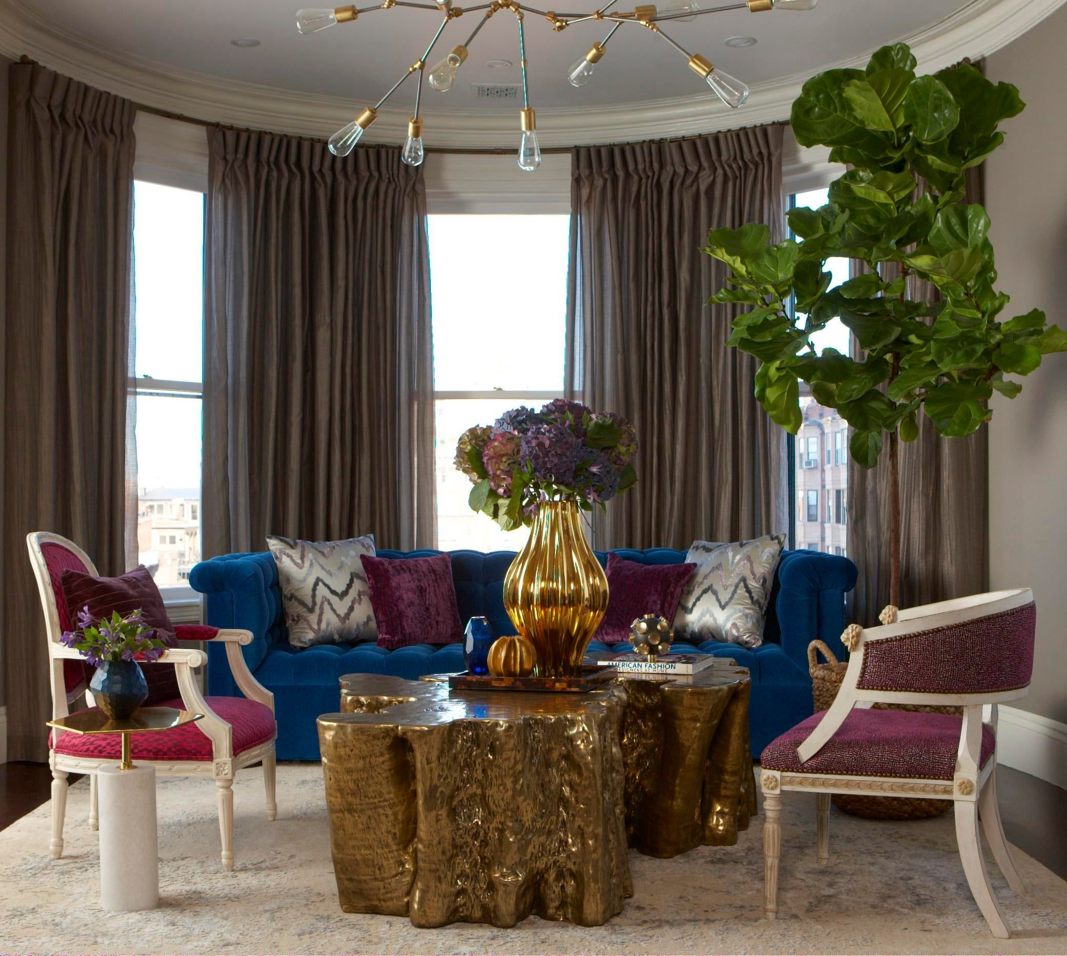 Back Bay Penthouse Living Contemporary Modern Eclectic Transitional By Rachel  Reider Interiors