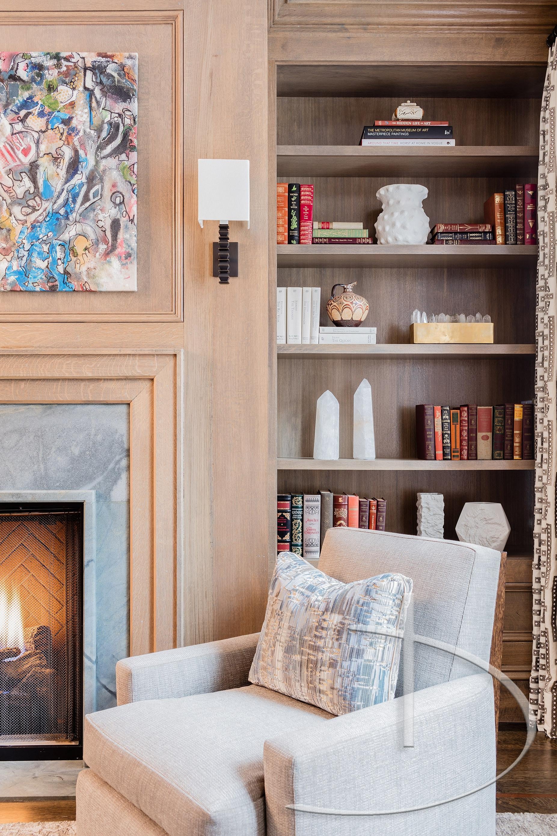 Contemporary Classic Library Living Transitional By Daher Interior Design