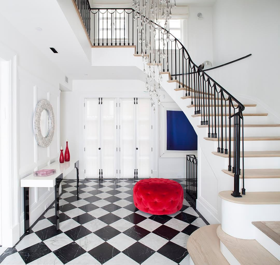Foyer Of A Home In Brooklyn, New York Foyer Transitional By Cara Woodhouse  Interiors LLC