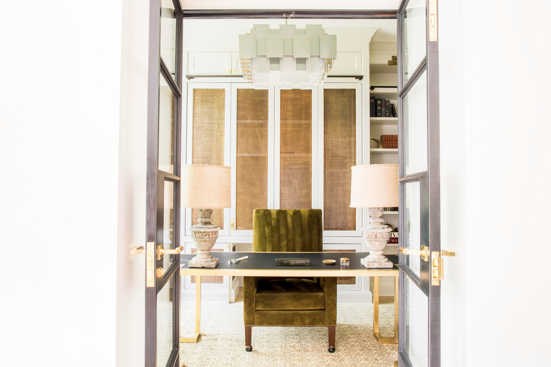 Office With Custom Velvet Chair By NBA And Estudio Furnishings. By Nate  Berkus Associates   Lookbook   Dering Hall