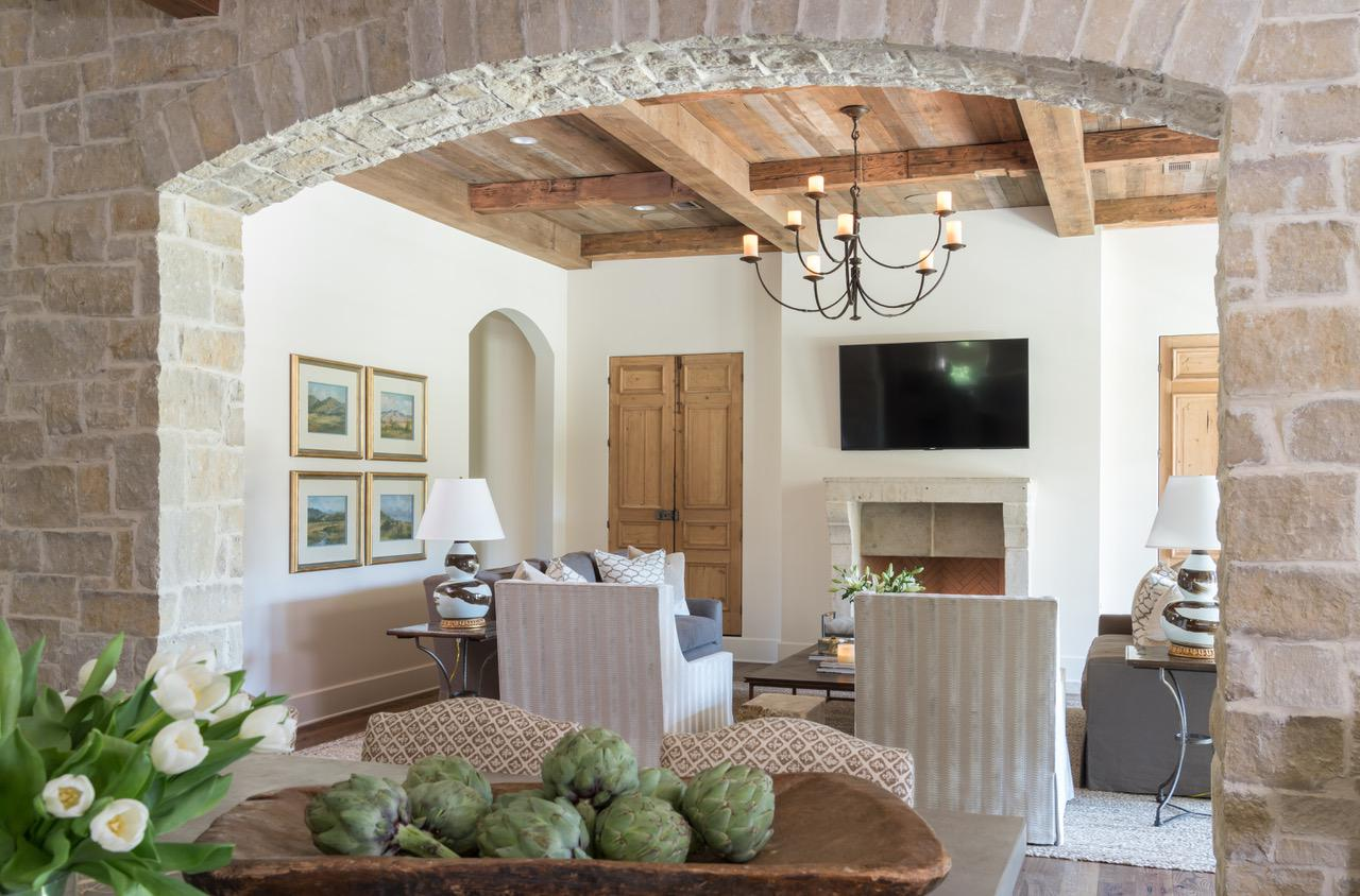 Shady River Kitchen Arch And Living Room