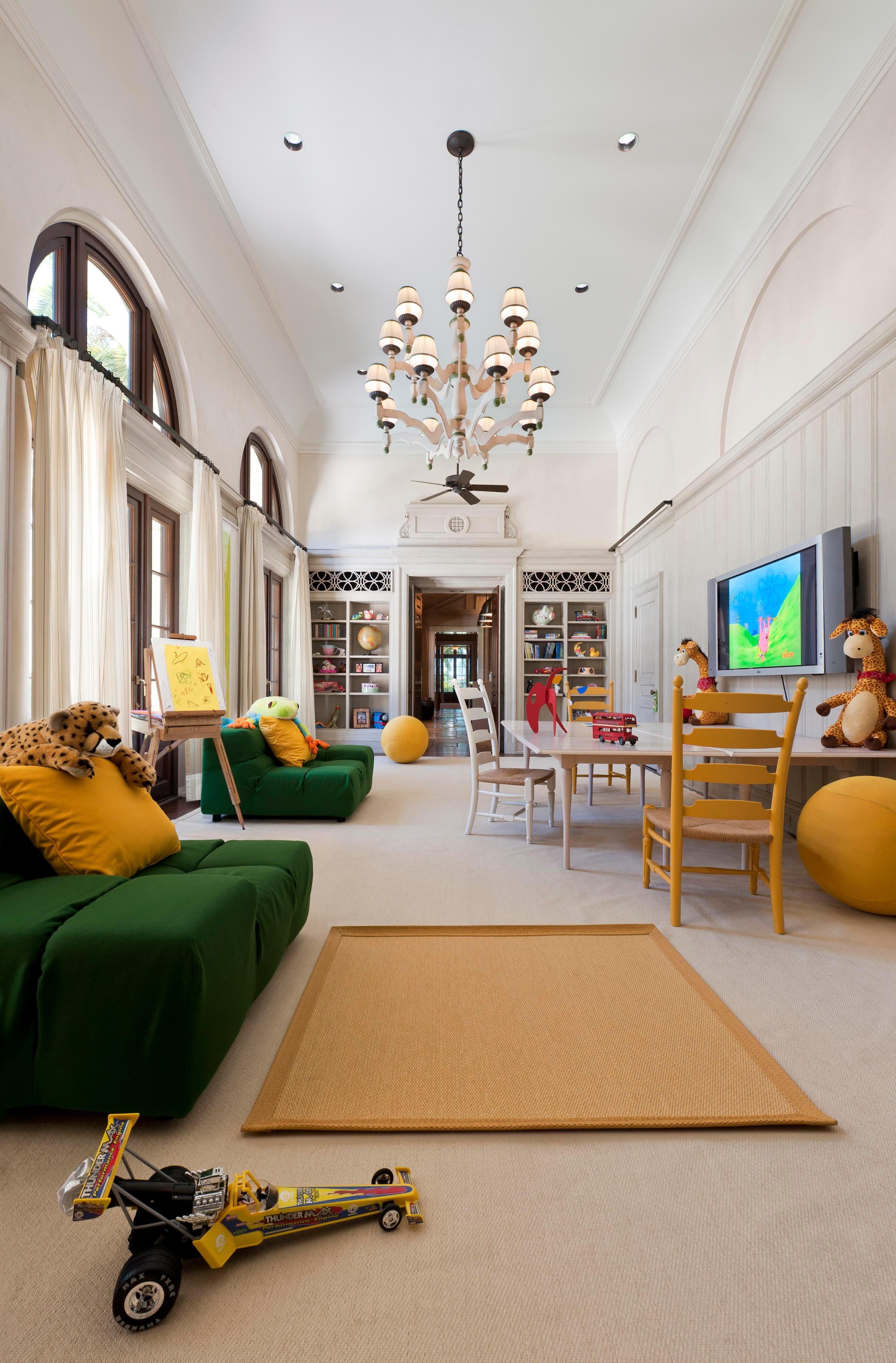 Interior Architecture Of Miami Indian Creek Home Featured In Architectural  Digest U2013 Playroom