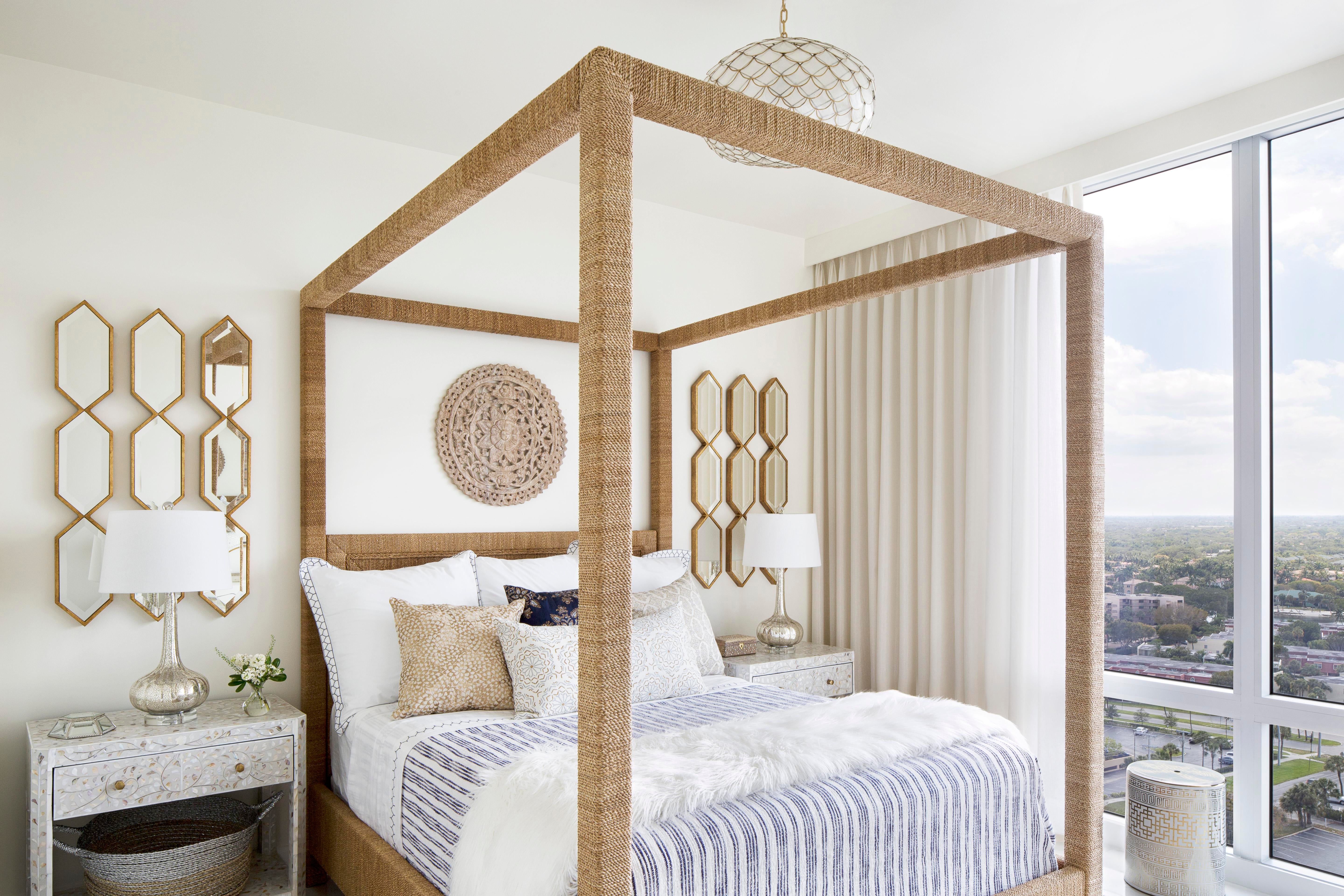 Oceanside Retreat Vacation Residence Bedroom Contemporary Moroccan Coastal  By Lisa Michael Interiors