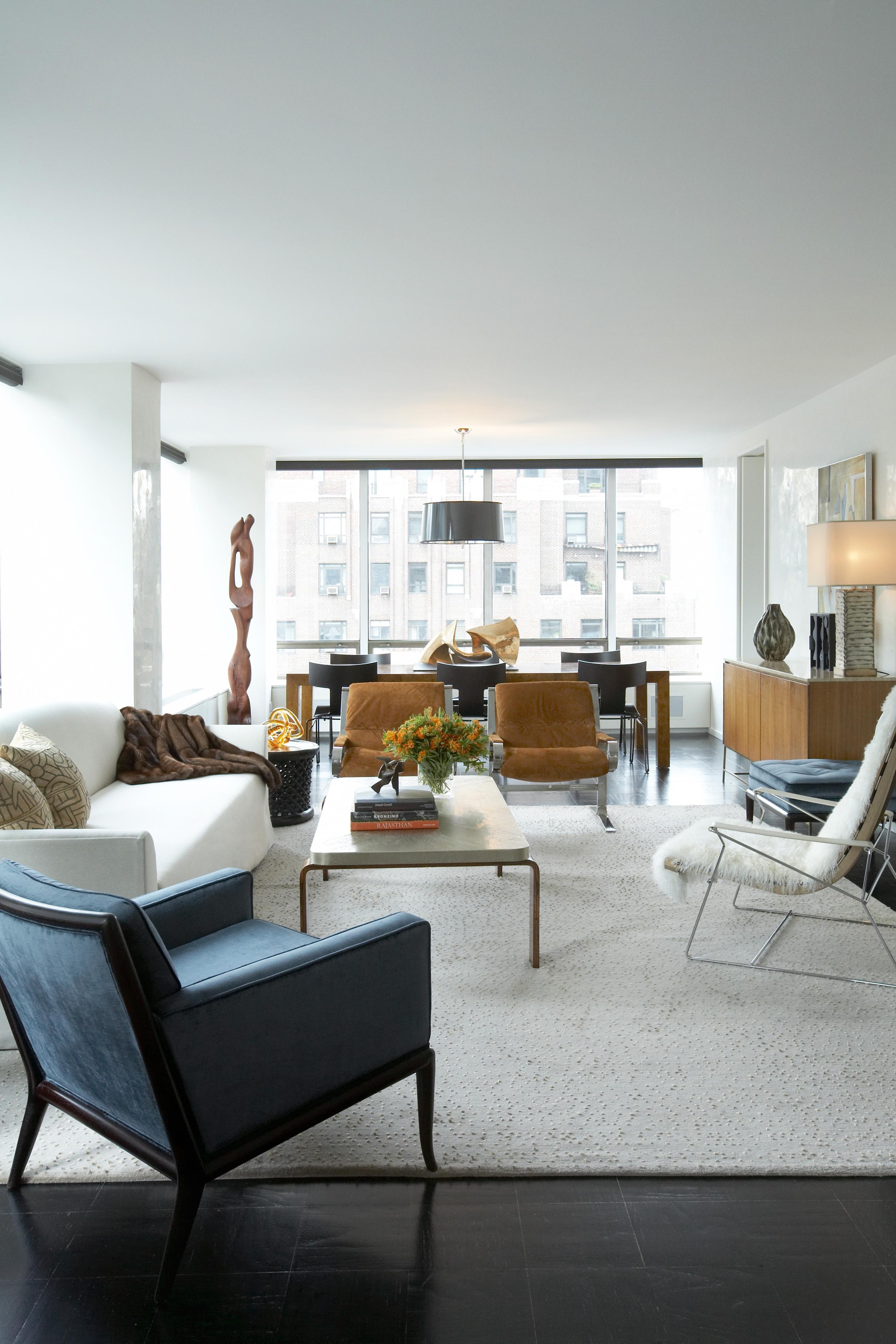 UN Plaza Living Room Living Contemporary Eclectic By David Scott Interiors,  ...