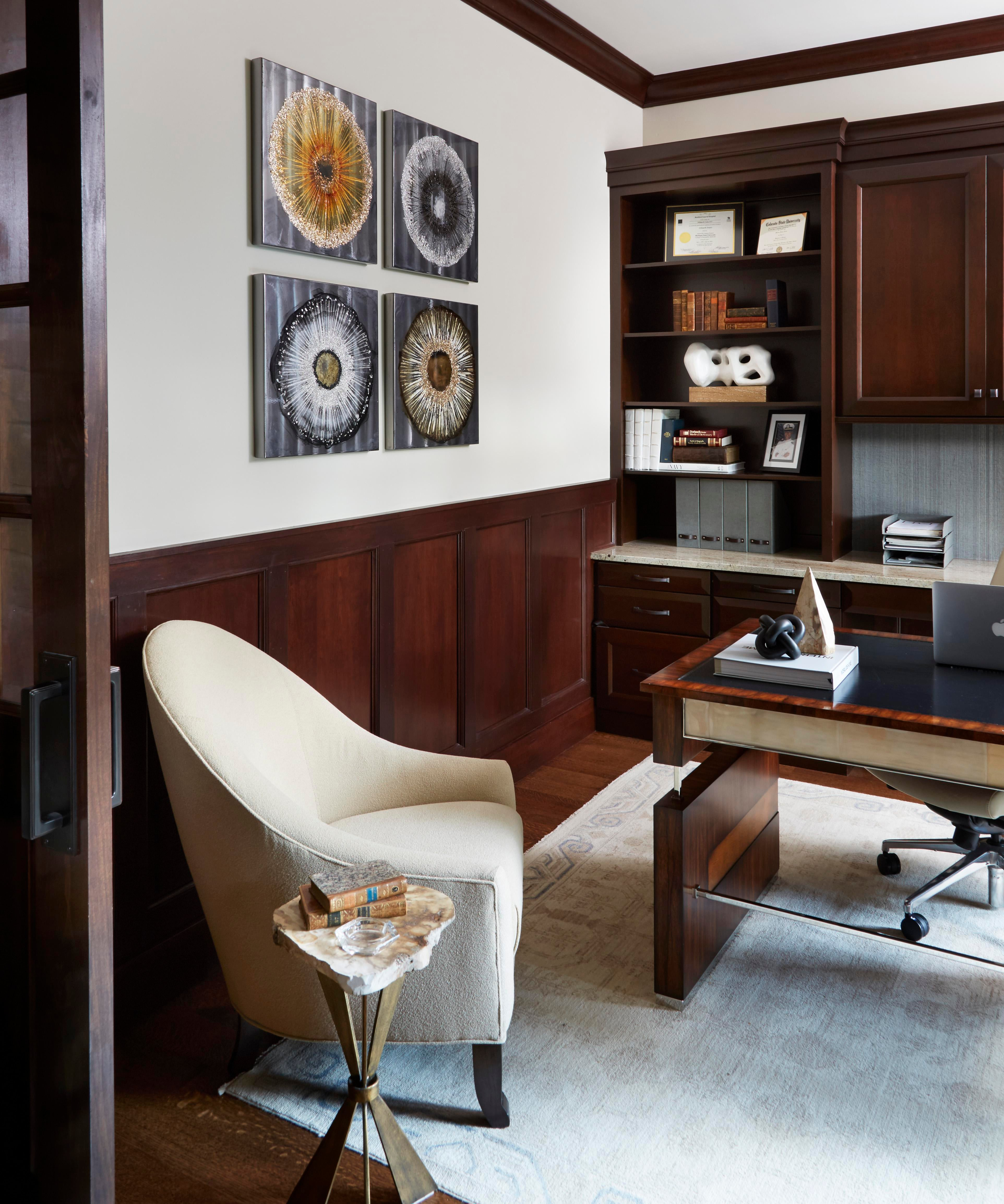 MountainInspired Home Design Office Home Office Vignette Mountain  Traditional By Studio Brunstrum