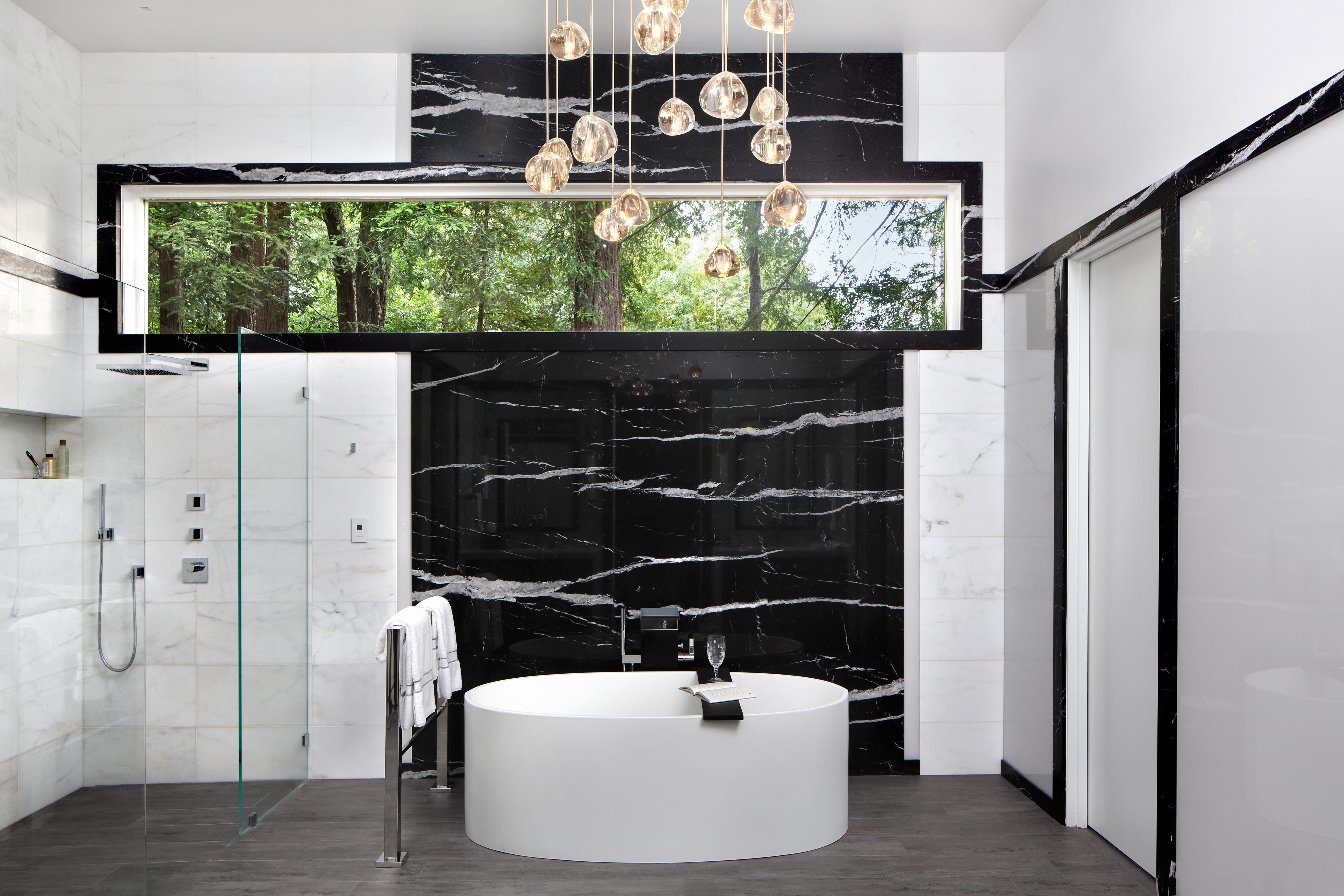 Modern Luxe Interieur : Modern luxe marble bathroom tub shower by trg architecture