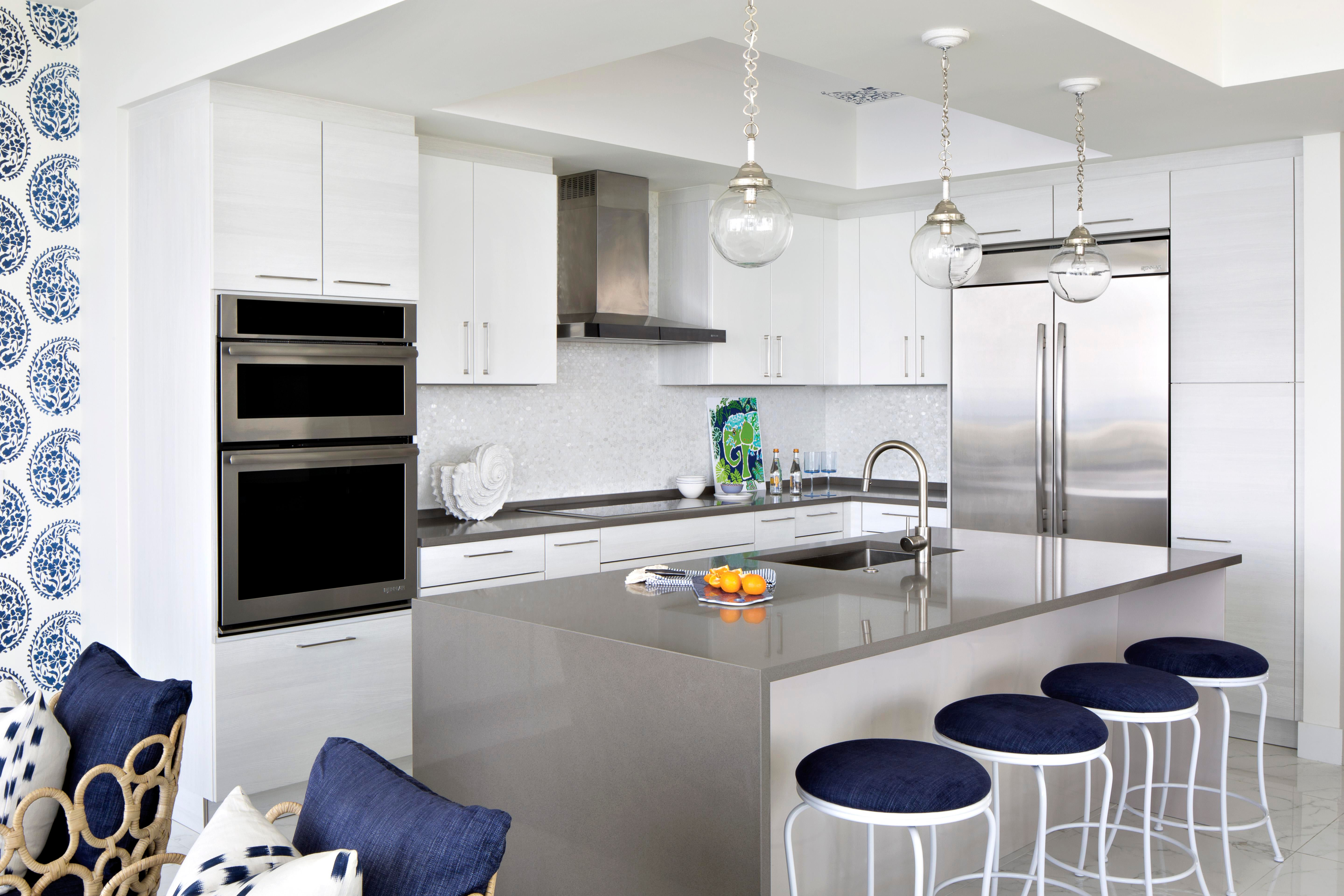 Oceanside Retreat Vacation Residence Kitchen Contemporary Eclectic Coastal  By Lisa Michael Interiors