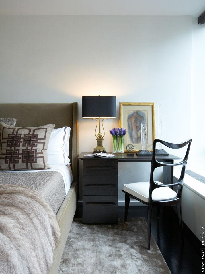 UN Plaza Master Bedroom Bedroom Contemporary Eclectic By David Scott  Interiors, ...