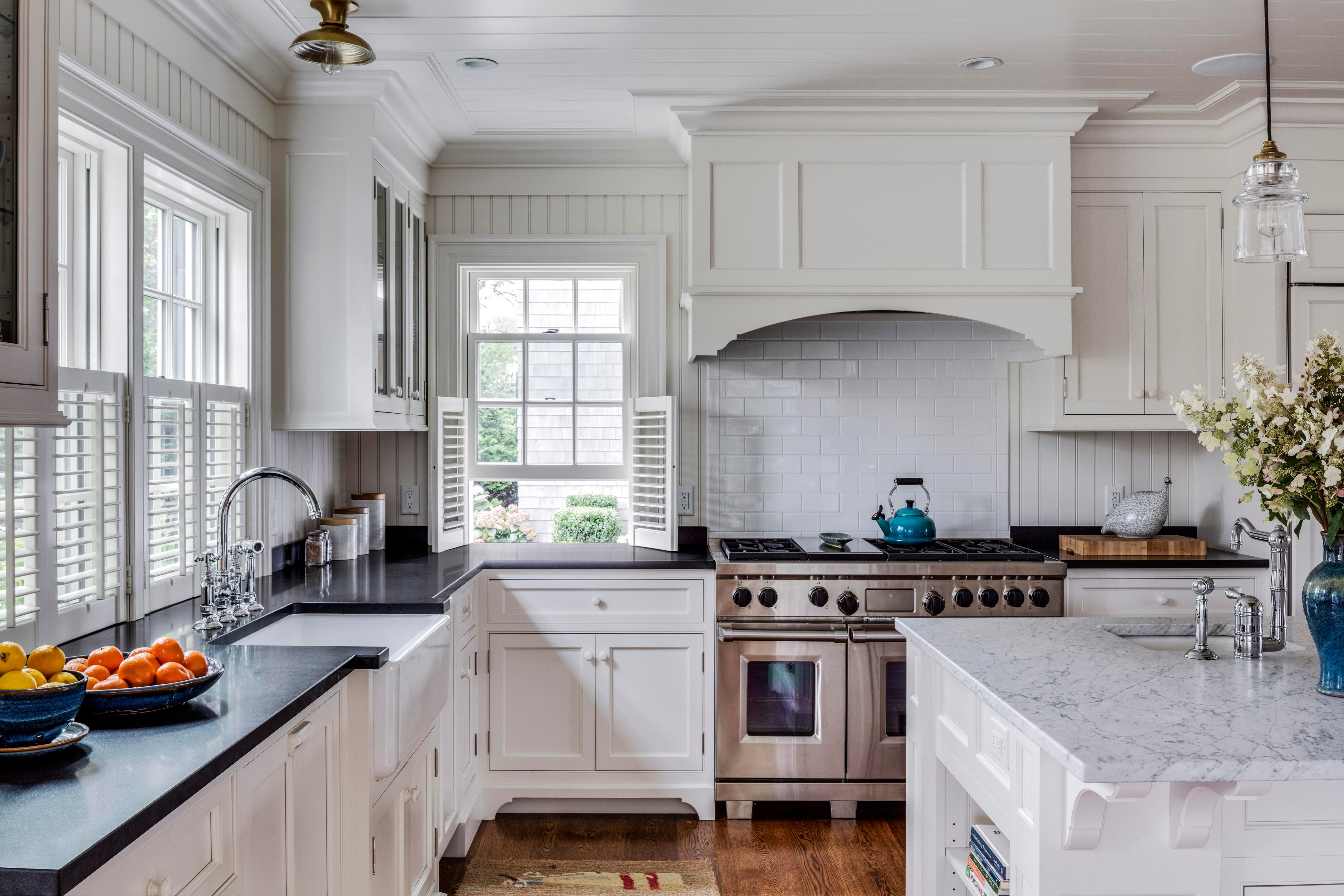 Traditional White Farmhouse Kitchen In Edgartown On Marthau0027s Vineyard Kitchen  Architectural Detail Traditional By Patrick Ahearn