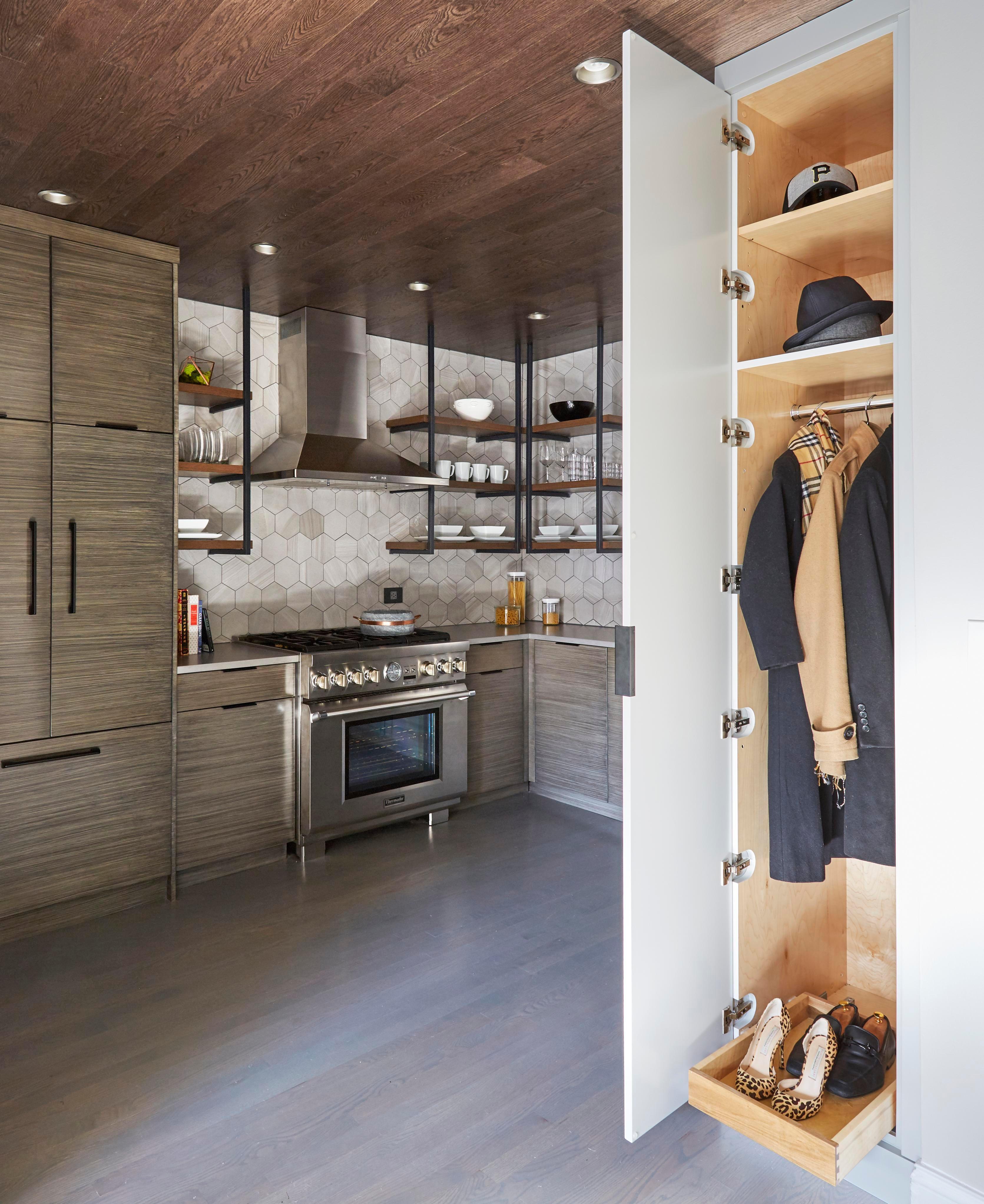 Lincoln Park Condo Kitchen Kitchen Butleru0027s Pantry Closet Architectural  Detail Contemporary Industrial ...