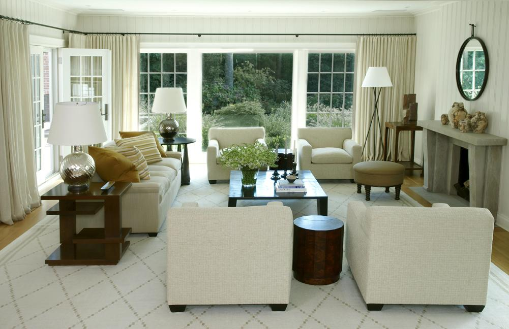 East Hampton is chic and airy in this David Kleinberg dressed living