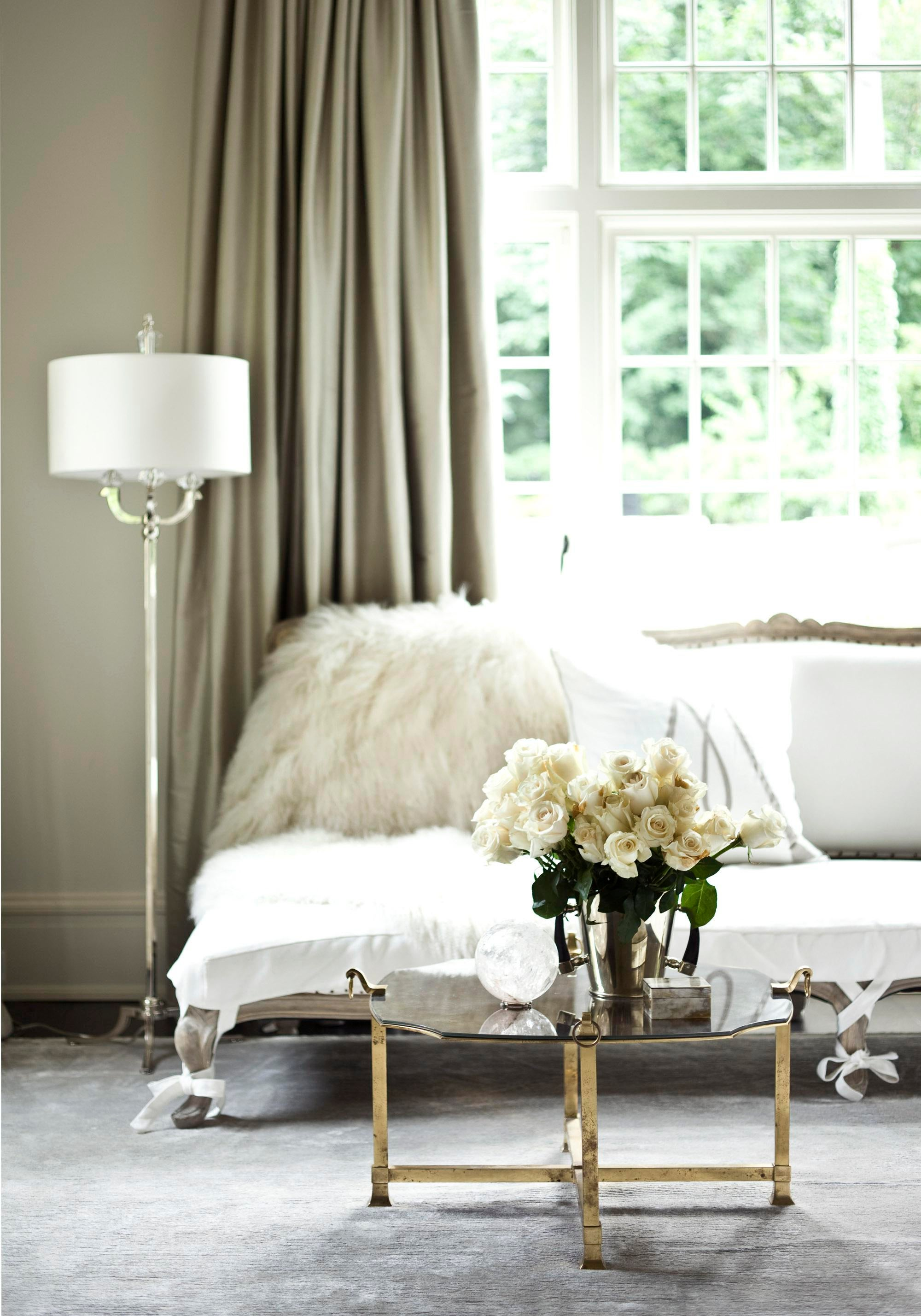 Sitting Area In Authentic Master Bedroom Bedroom Contemporary Eclectic By Suzanne  Kasler Interiors