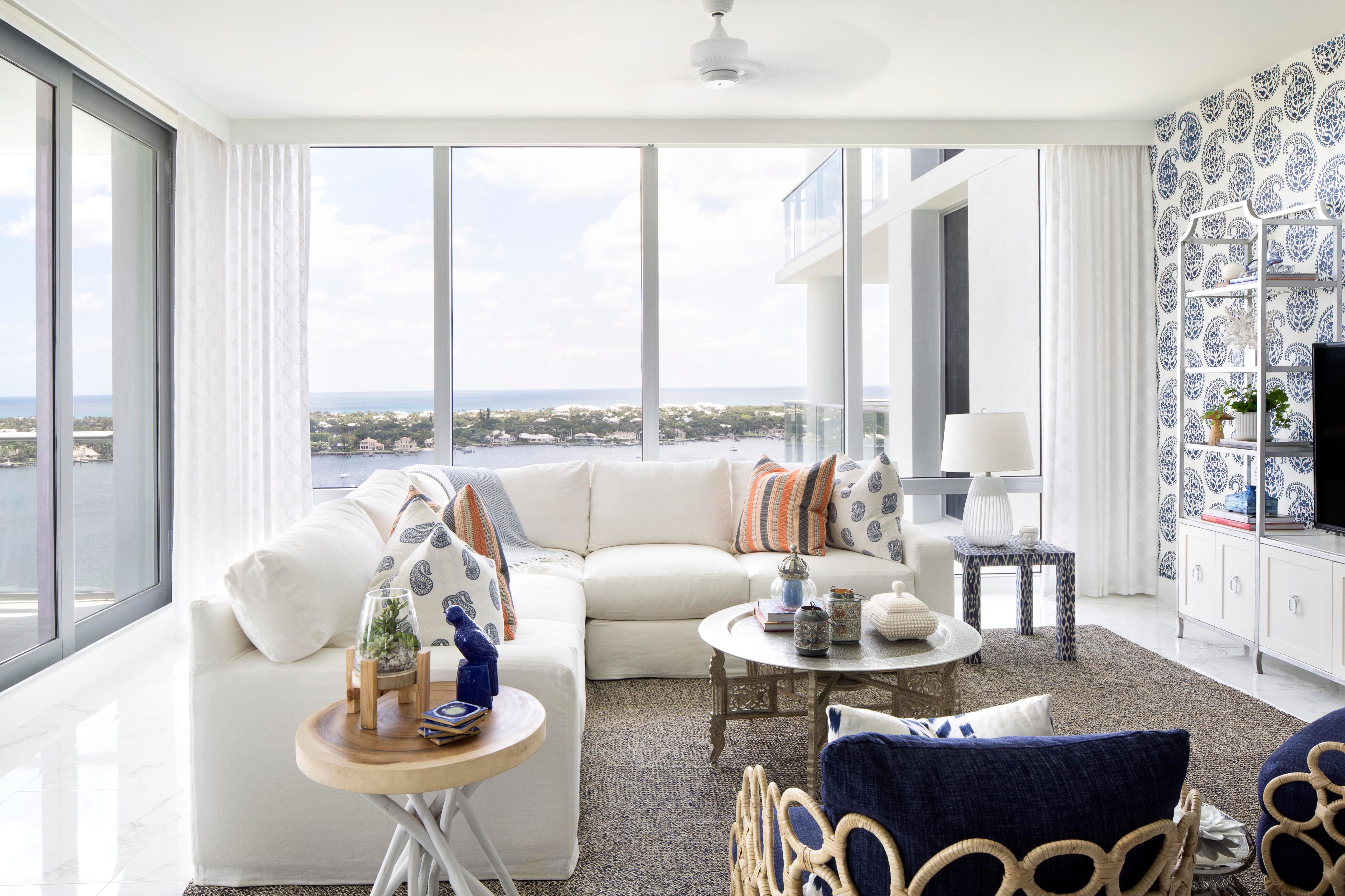 Oceanside Retreat Vacation Residence Living Family Room Contemporary  Eclectic Coastal By Lisa Michael Interiors