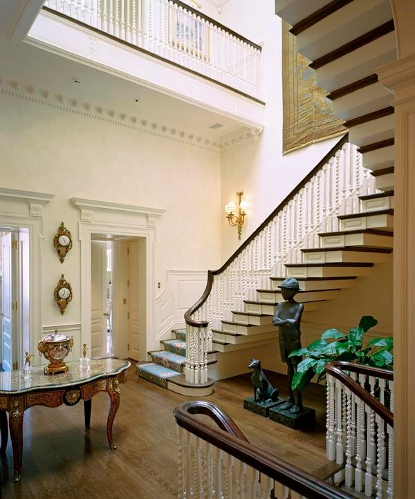 Georgian Townhouse Stair Hall Gallery Hallway Foyer Staircase Architectural  Detail Georgian Greek Revival Neoclassical Traditional By