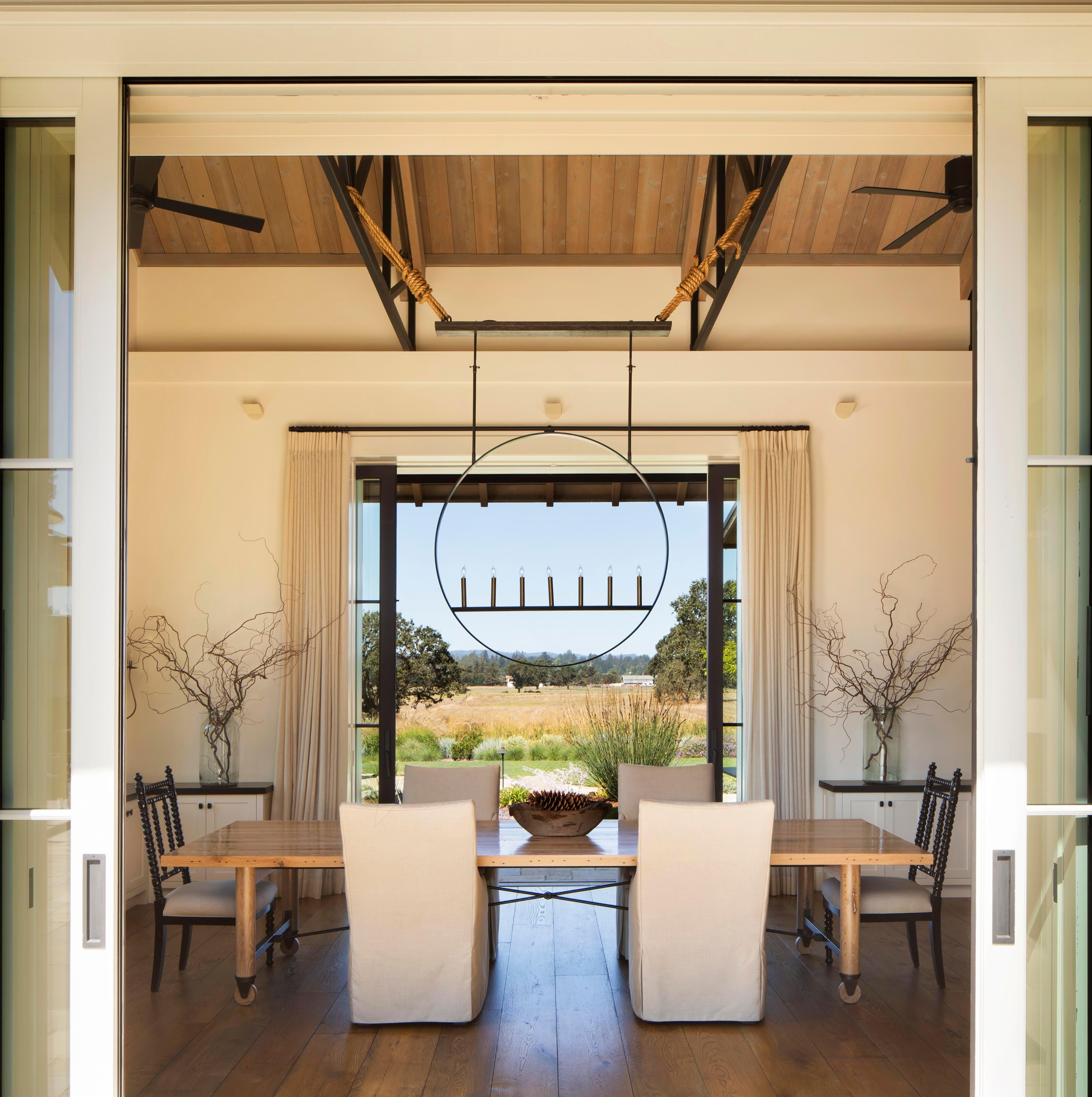 Dining Room Laguna De Santa Rosa Residence. Wade Design Architects