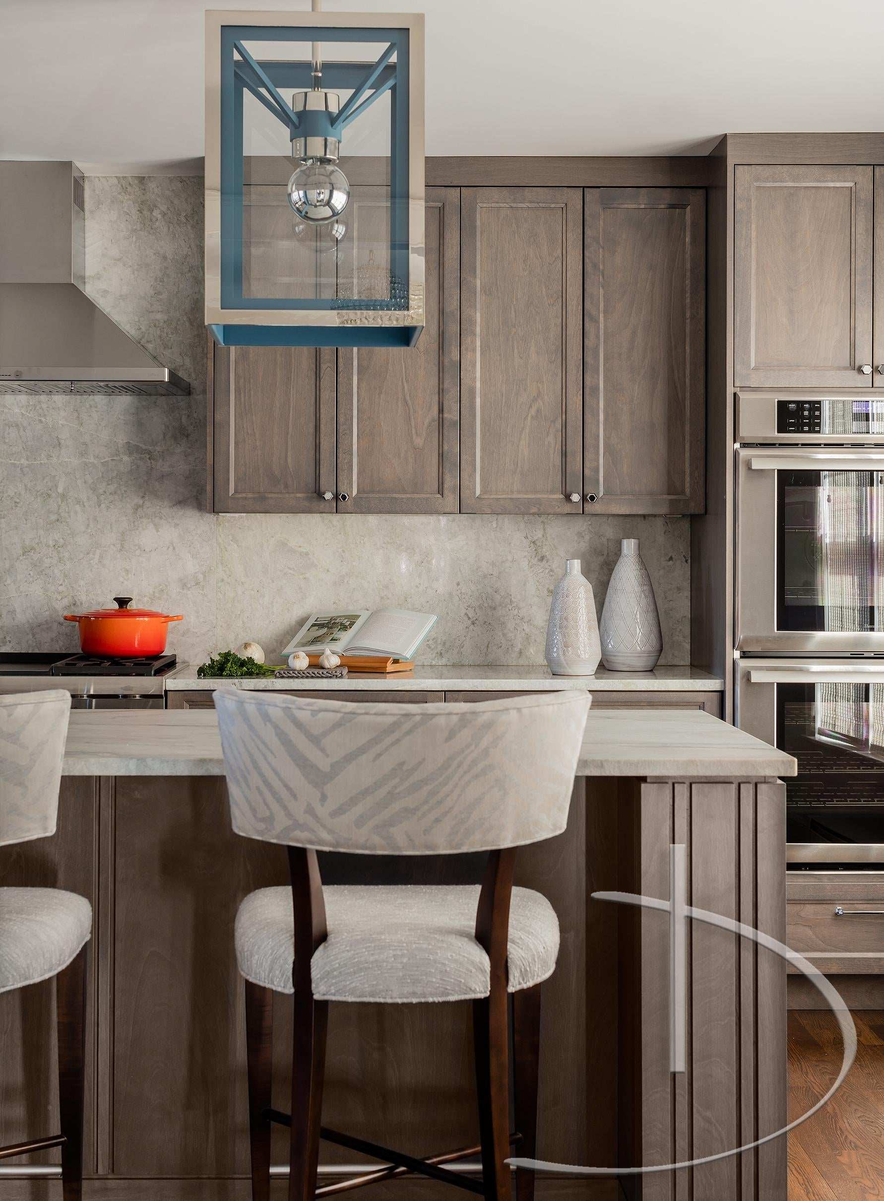 Captivating Into The Blue Andover, MA Kitchen Contemporary Modern Transitional By Daher  Interior Design
