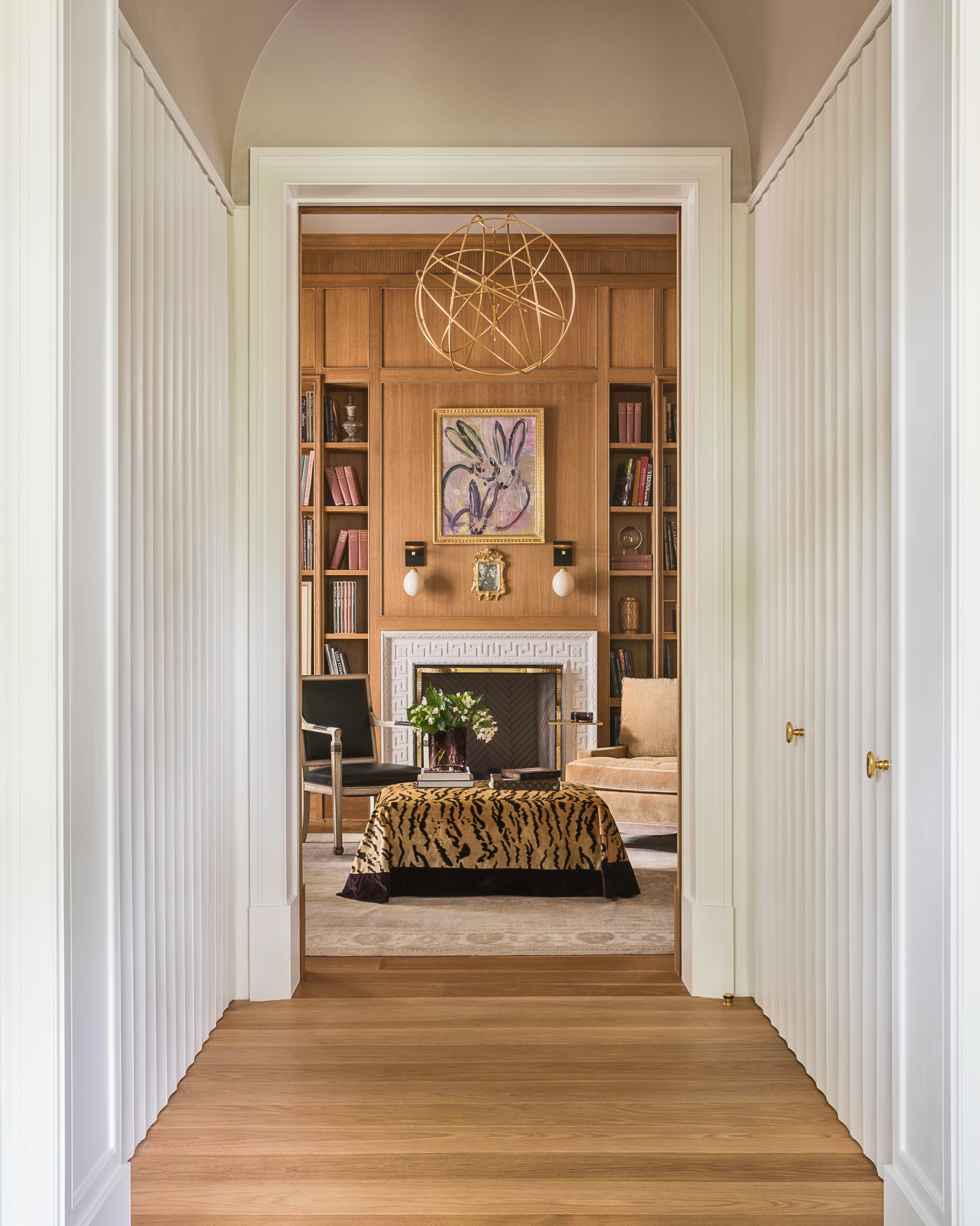Glamour Hallway Leading To Paneled Library Hallway Library  TraditionalNeoclassical Eclectic Transitional By Suzanne Kasler Interiors