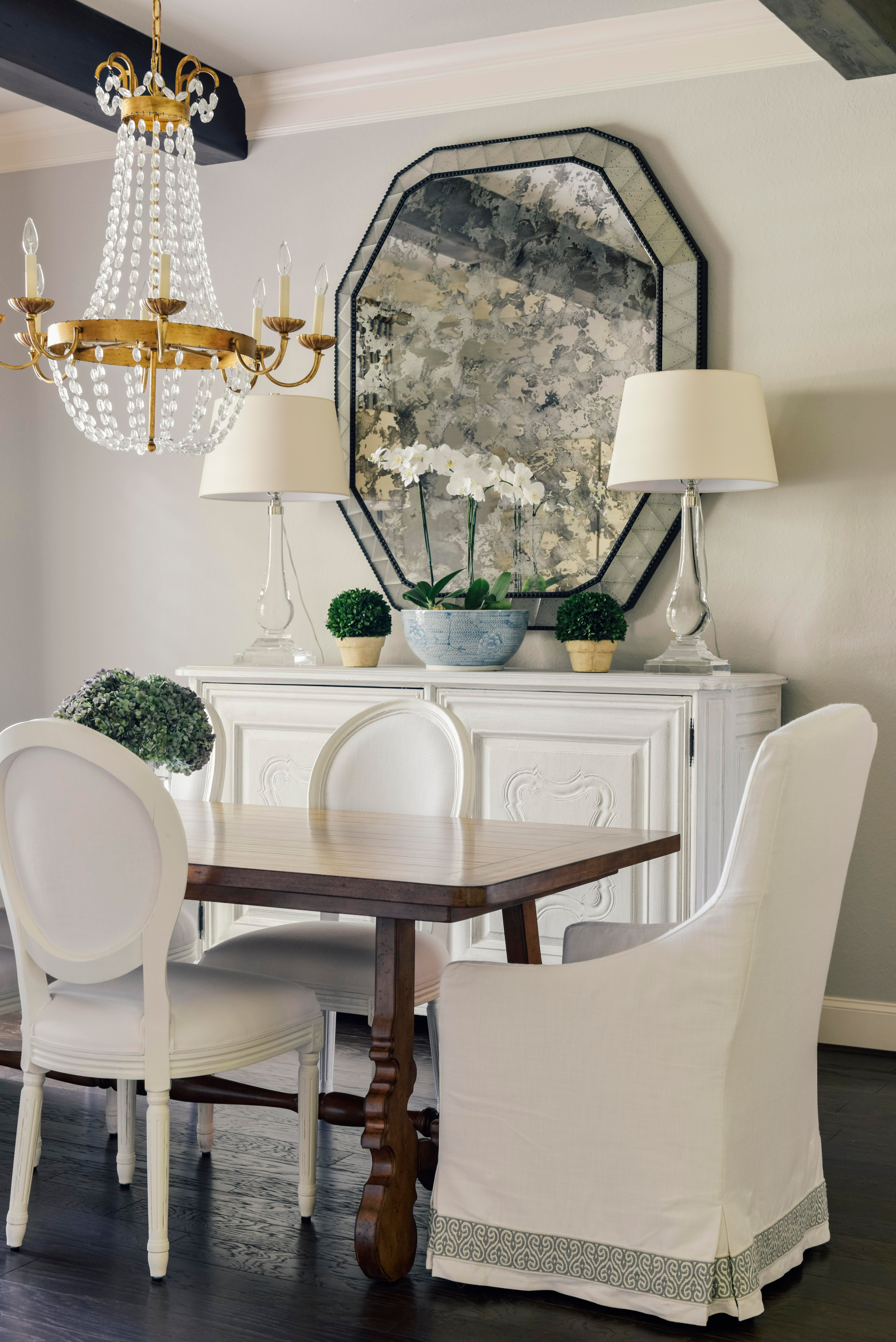 Merveilleux Houston Dining Room, French Country, Traditional, Antique Mirror, Louis  Chairs