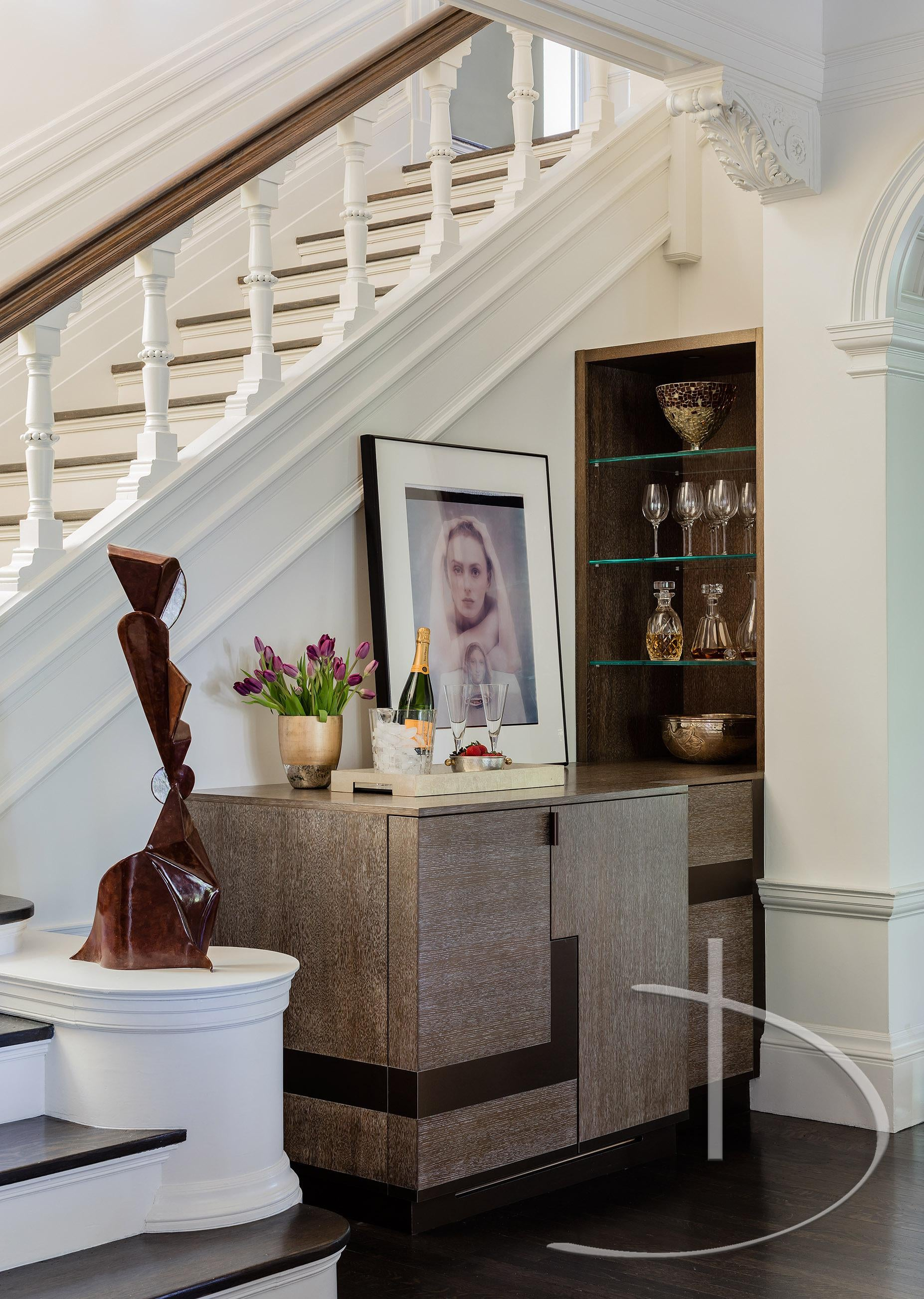 Bold Luxury Boston, MA Foyer Staircase Contemporary Transitional By Daher  Interior Design