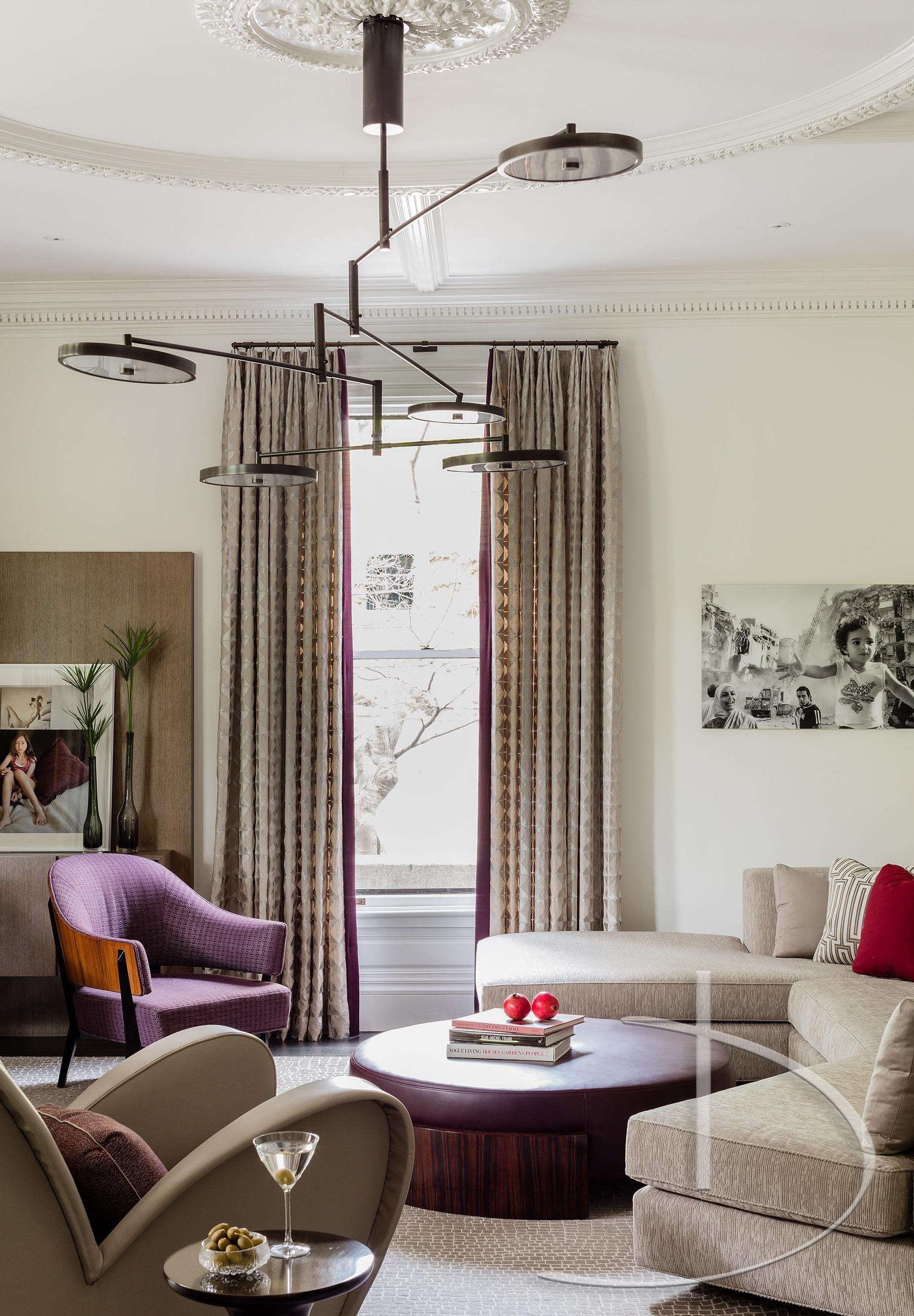 Bold Luxury Boston, MA Living Transitional By Daher Interior Design