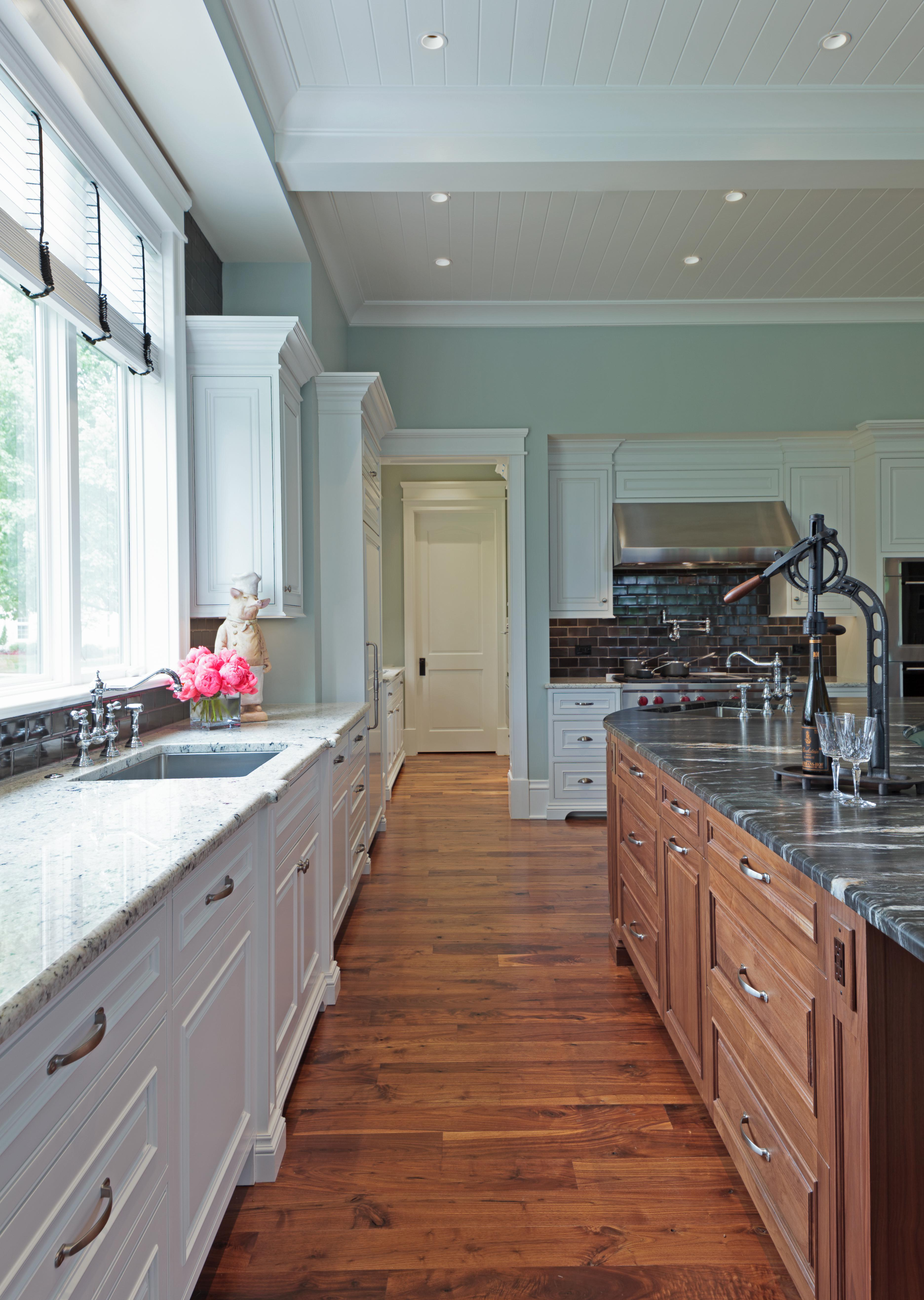 Curved Kitchen Island Kitchen French Country Shingle Style Cottage By CK  Interior Design