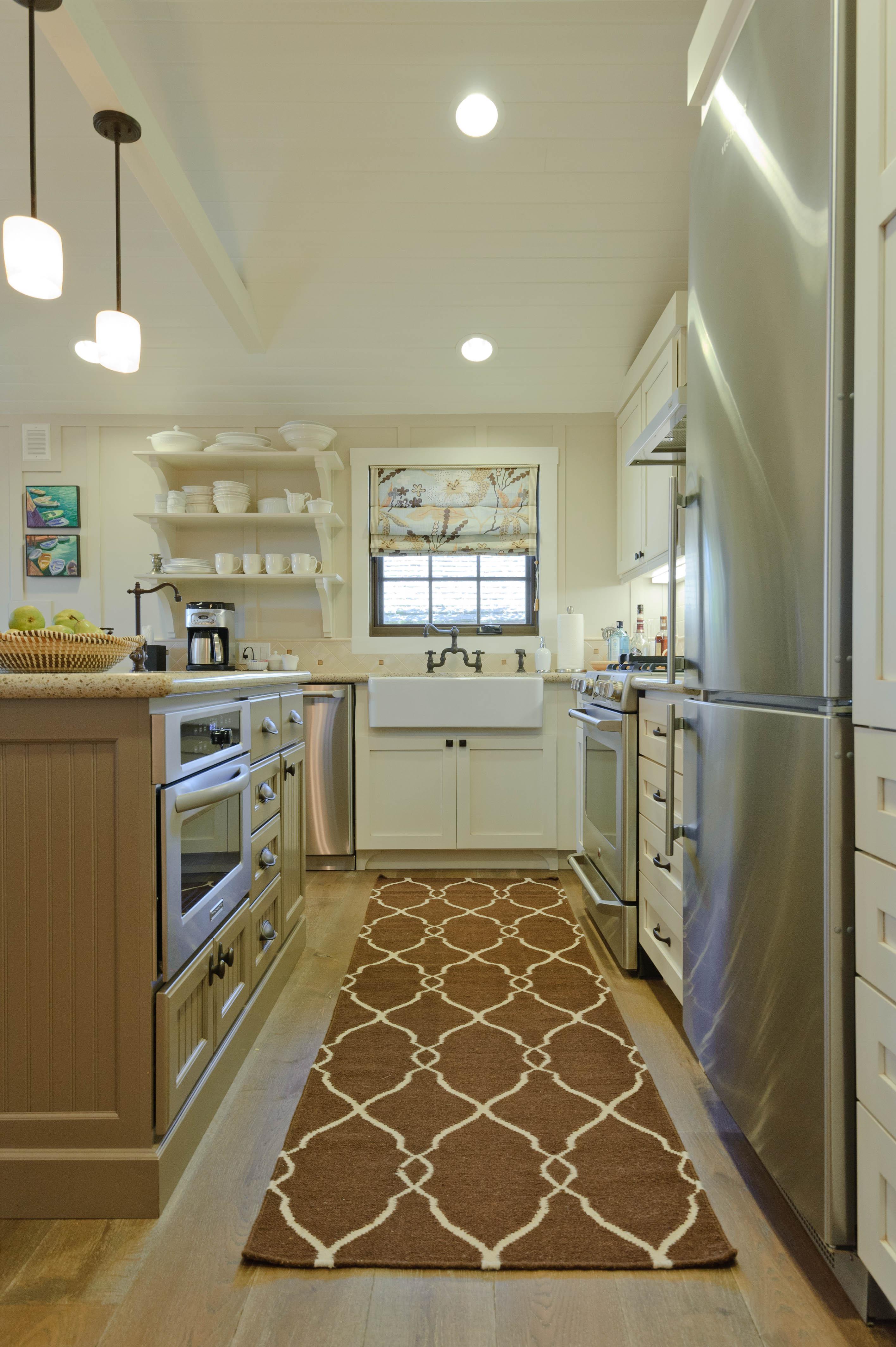 Carmel Beach Bungalow Kitchen Contemporary TraditionalNeoclassical Coastal  By Regan Baker Design