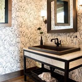 Modern Farmhouse Powder Room