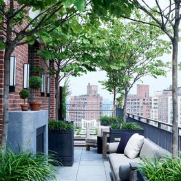 Master Bedroom Rooftop Terrace -- Downtown Triplex Apartment