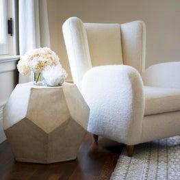 Chic, neutral San Francisco apartment with custom drapery