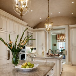 White custom kitchen in Palm Beach Estate