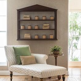 Biblos Box Shelf, Chelsea Chaise Lounge & Finn Side Table