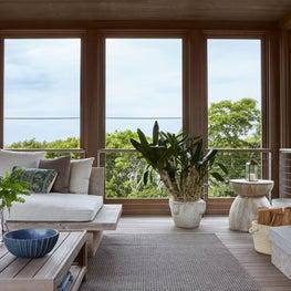 Organic Modern Coastal Neutral New England House Living Area